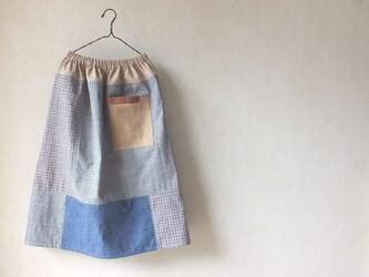 江南の色~上海木綿のいろいろスカートの画像