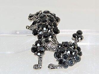 プチ・ギフト♡【タックピン】DOG・黒メレ・シルバー♪の画像