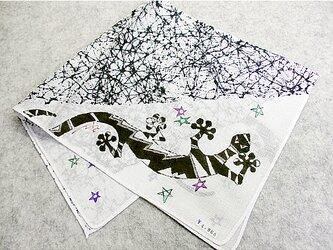 綿ハンカチ(ヤモリ)の画像