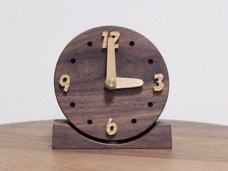 コロッと無垢の丸時計【ウォールナット】の画像