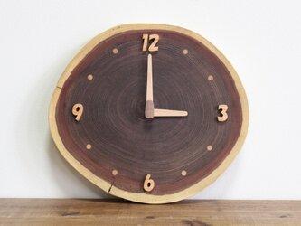 エンジュの輪切り時計の画像