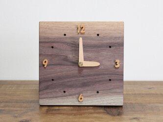 無垢の時計【ウォールナット】の画像