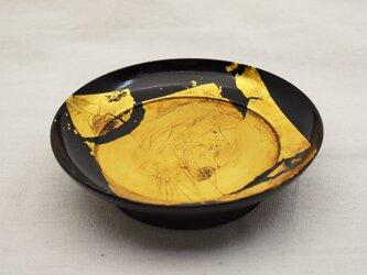 椿皿 金箔張黒漆真塗の画像