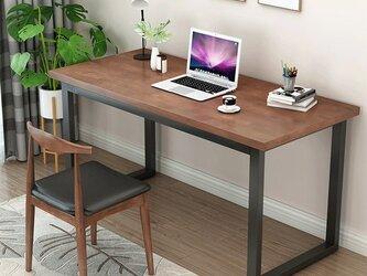 オーダーメイド 職人手作り パソコンデスク テーブル アイアンウッド 家具 天然木 木目 サイズオーダー可 LR2018の画像