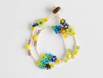 《チョーカー/二重でブレス》Yellow Flower×Blue Flowerの画像