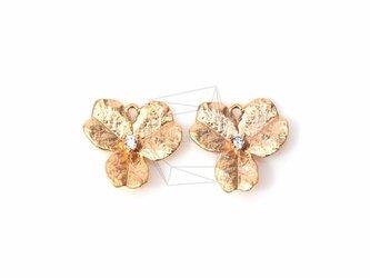 PDT-383-MG【4個入り】キュービックジルコニアフラワーペンダント,CZ flower Pendantの画像