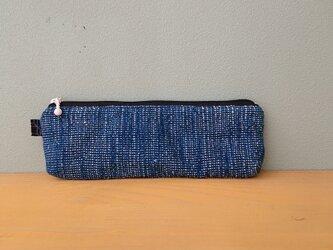 (再販)ペンケース·メガネケース·マルチケース藍染染め手織りの画像