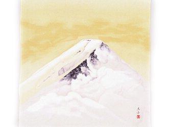 風呂敷 絹 名作 奥村土牛 富士 68cm幅の画像