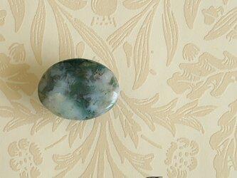 天然石の帯留 ◎ モスアゲート/A【送料無料】の画像
