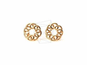 ERG-119-MG【2個入り】サークルピアス,circle Earrings/ 10mm x 10mmの画像