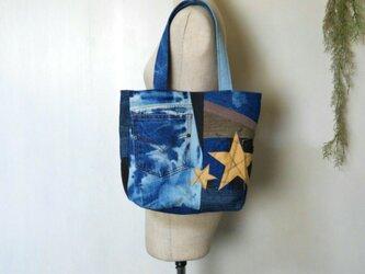 デニム パッチワーク ブリーチジーンズ ~ リメイク 星 迷彩 カモフラージュの画像