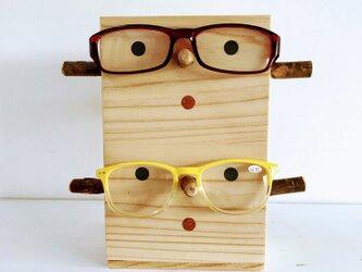 【誕生日・敬老の日・父の日・母の日ギフトに】2個用woodメガネかけ 杢目が横編の画像