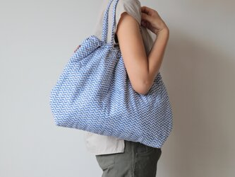 Hand block print bag / no5の画像