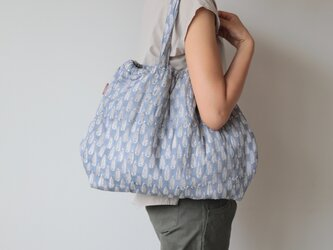 Hand block print bag / no6の画像