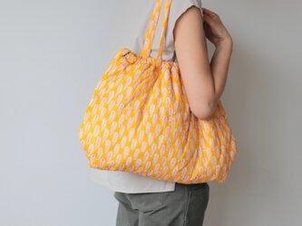 Hand block print bag / no7の画像