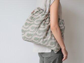 Hand block print bag / no9の画像