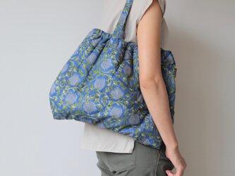 Hand block print bag / no10の画像