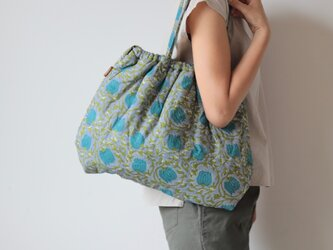 Hand block print bag / no11の画像