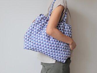 Hand block print bag / no12の画像