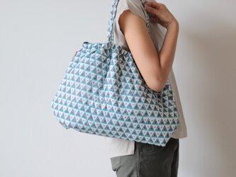 Hand block print bag / no13の画像