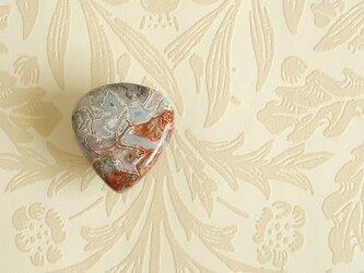 天然石の帯留 ◎ クレイジーレースアゲート/B【送料無料】の画像