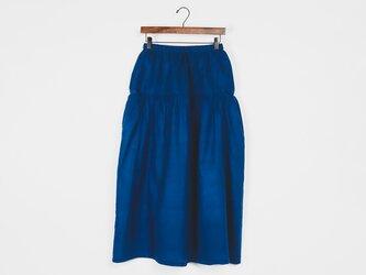 サイドポケットスカート カディコットン Blueの画像