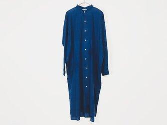 カディコットン ユニセックスロングシャツ Blueの画像