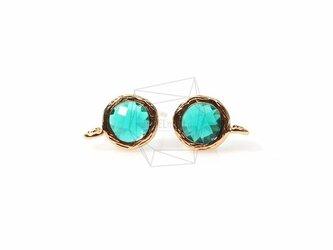 ERG-148-G【2個入り】ガラスピアス,Glass Post Earring(Emerald)/ 8mmx10mmの画像