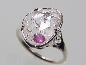 クォーツとルビーの指輪  Quartz and Ruby Ringの画像