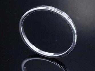 指輪 メンズ レディース : 丸鎚目リング 2mm幅 1~27号の画像
