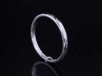 指輪 メンズ レディース : 甲丸丸鎚目リング 2mm幅 1~27号の画像