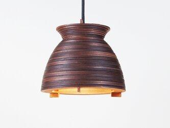 「ボウル」木製ペンダントライトの画像