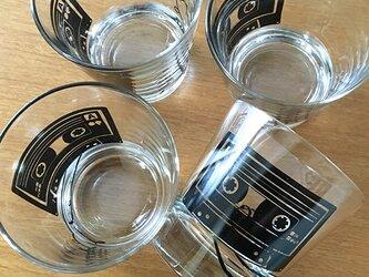 カセットテープ グラス ★ ロックグラス ガラスコップ 大人向け 300ccの画像