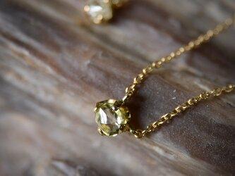 ラフ ダイヤモンド(0.34ct)のプチペンダントネックレスの画像