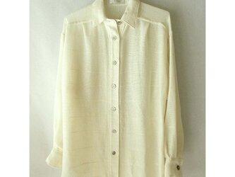 手織り木綿の生地で作ったシャツ(2)の画像