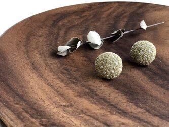 ◉こぎん刺しイヤリング◉『モドコ:石畳』の画像