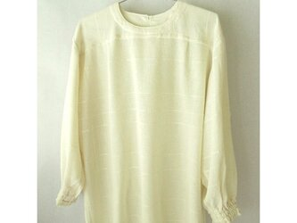 手織り木綿の生地で作ったブラウス・袖口ゴム(1)の画像
