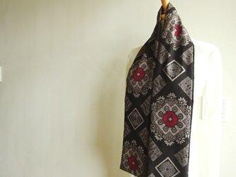 龍郷を楽しむ大島スカーフの画像