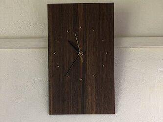 ブラックウォルナットの掛時計の画像