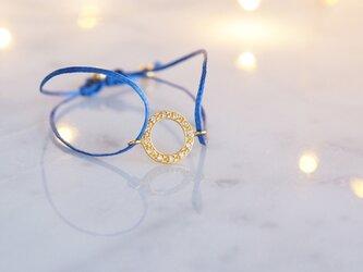【Silver925】White Topaz Code Bracelet -Ring-の画像