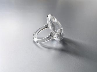 こぼれないアロマリング -Clear Stone- Lサイズ 石塊ishikoro 指輪の画像