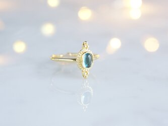 【Gold Vermeil/Gemstone】 Open Ring -Blue Topaz-, Phalange Ringの画像