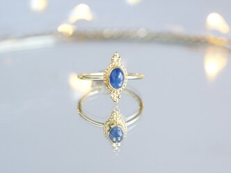 【Gold Vermeil/Gemstone】 Open Ring -Blue Sapphire-,Phalange Ringの画像