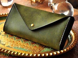 イタリアンレザー・革新のプエブロ・長財布2(オリーバ)の画像