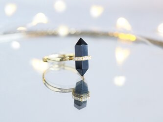 【Gold Vermeil/Gemstone】 Stuck Ring -Black Onyx-の画像