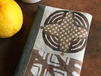 柿渋染めブックカバー  レトロなパン2の画像