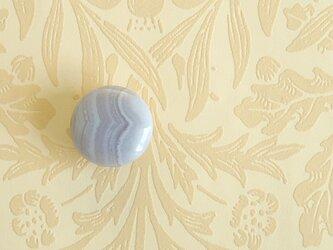 天然石の帯留 ◎ ブルーレースアゲート/G【送料無料】の画像