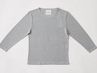 リネンコットンアンダーウェア 7分袖(カーキベージュ・レディースLサイズ)の画像