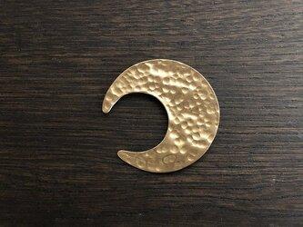 【受注生産】真鍮の三日月ブローチの画像