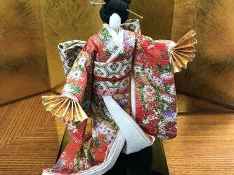 本格派友禅和紙人形(#008春暁鏡獅子弥生)の画像
